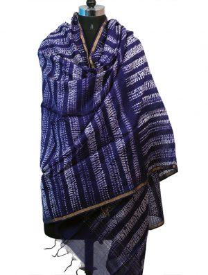 Buy online Shibori Hand Tie-Dye Chanderi Dupattas | cocoonkapas
