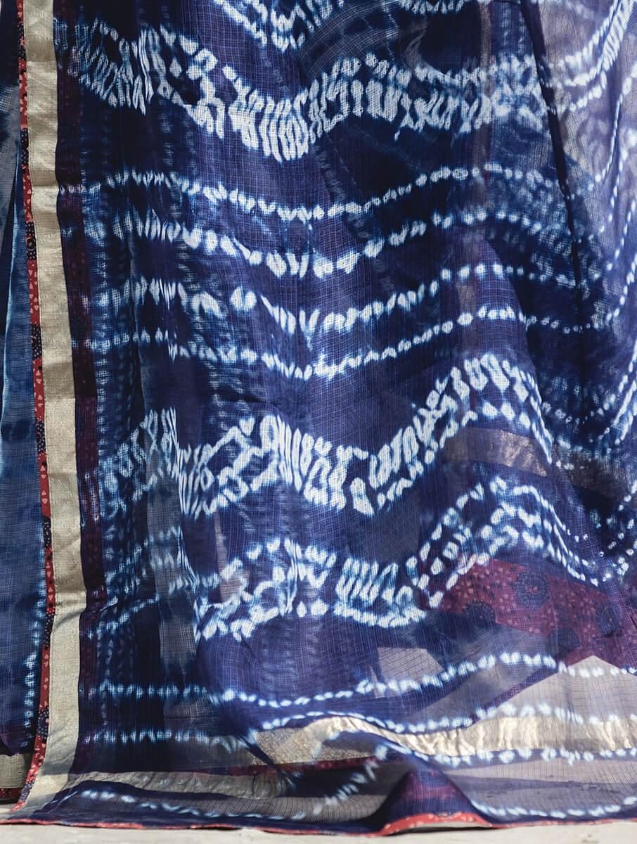 Pure Kota Silk Shibori Saree - 12